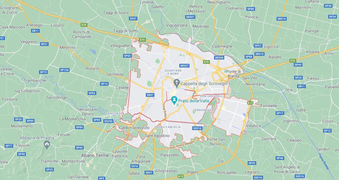 Padova Cap, Codici Istat, Codice Catastale e Comuni Confinanti